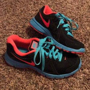 Black/Blue/Pink Nike Tennis Shoes